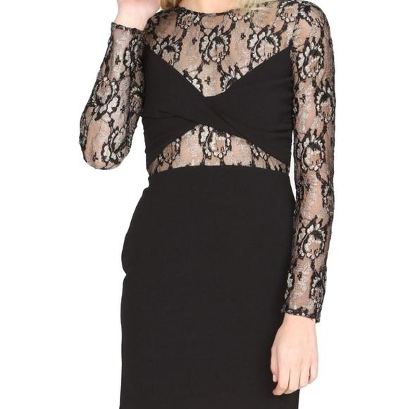 SUGARLIPS gold lace dress